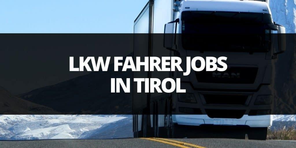 lkwfahrer job tirol