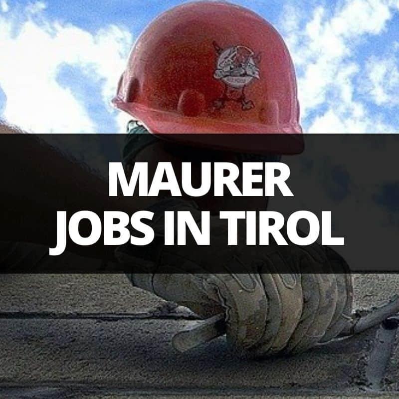 maurer jobs in tirol