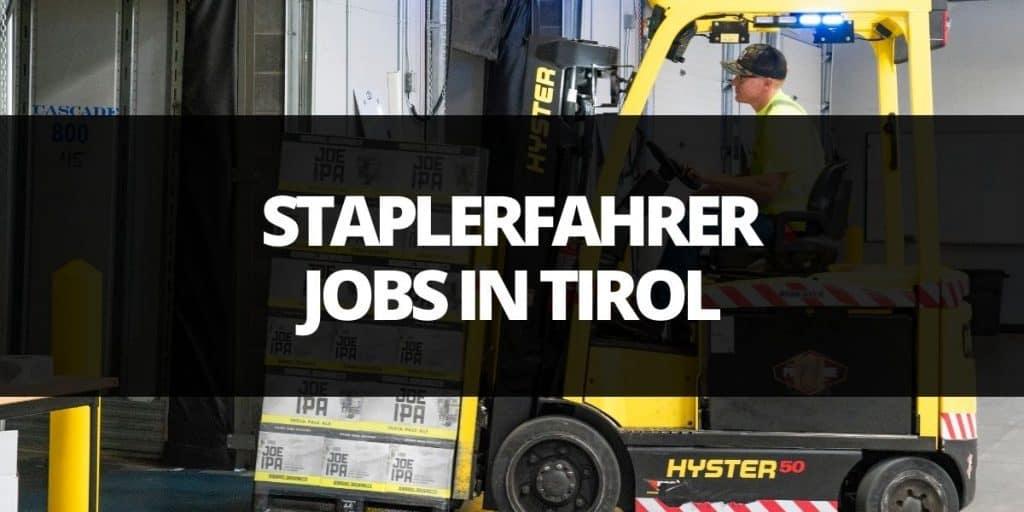 staplerfahrer job tirol