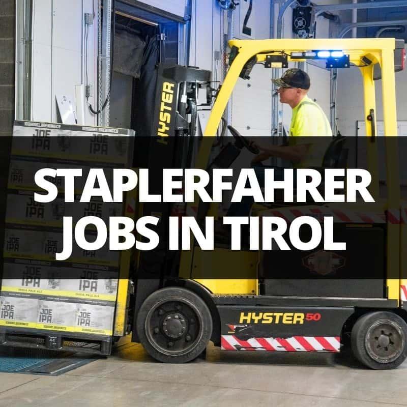 staplerfahrer jobs tirol